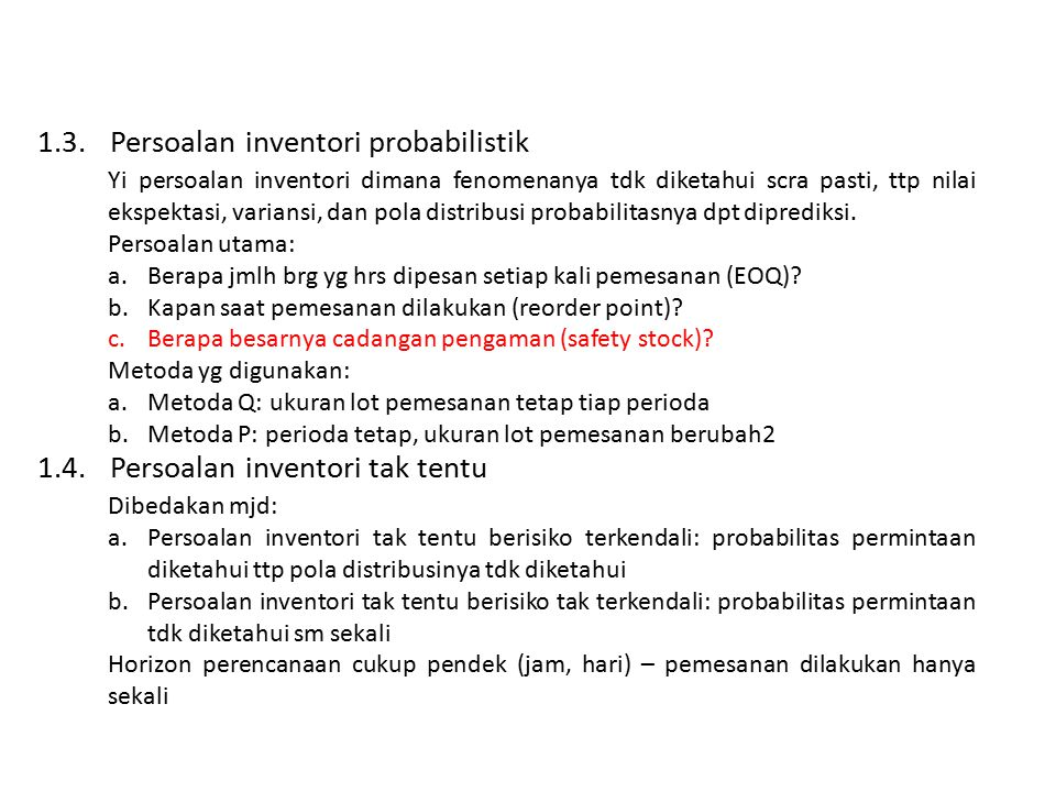 1.3. Persoalan inventori probabilistik