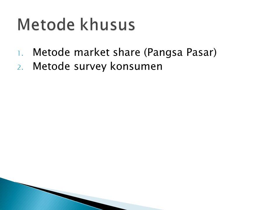 Metode khusus Metode market share (Pangsa Pasar)