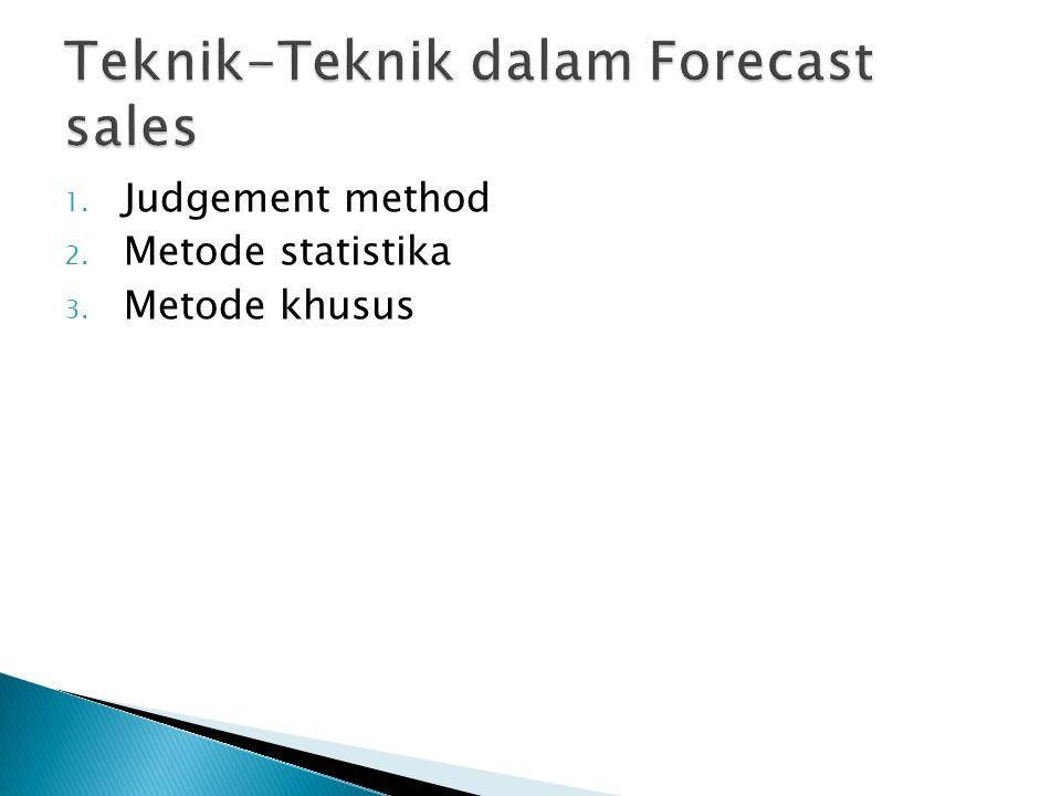 Teknik-Teknik dalam Forecast sales