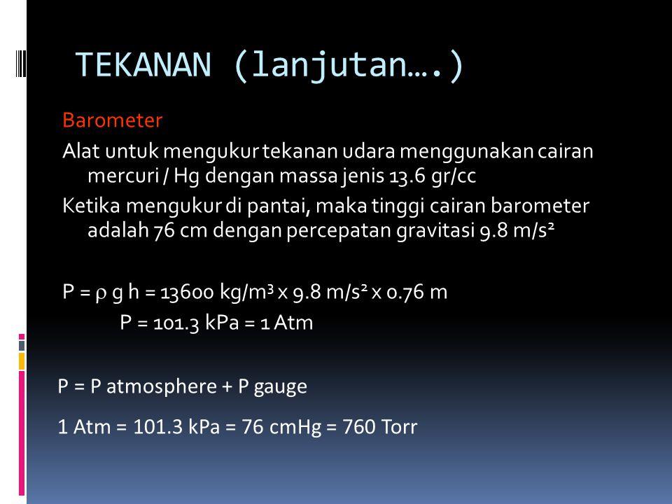 TEKANAN (lanjutan….)
