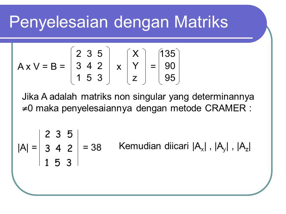 Penyelesaian dengan Matriks