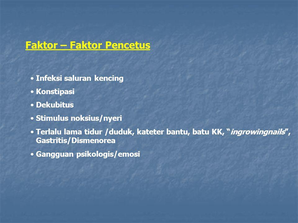 Faktor – Faktor Pencetus