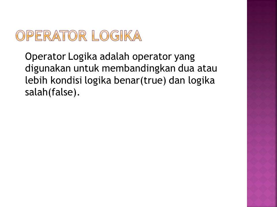 Operator Logika
