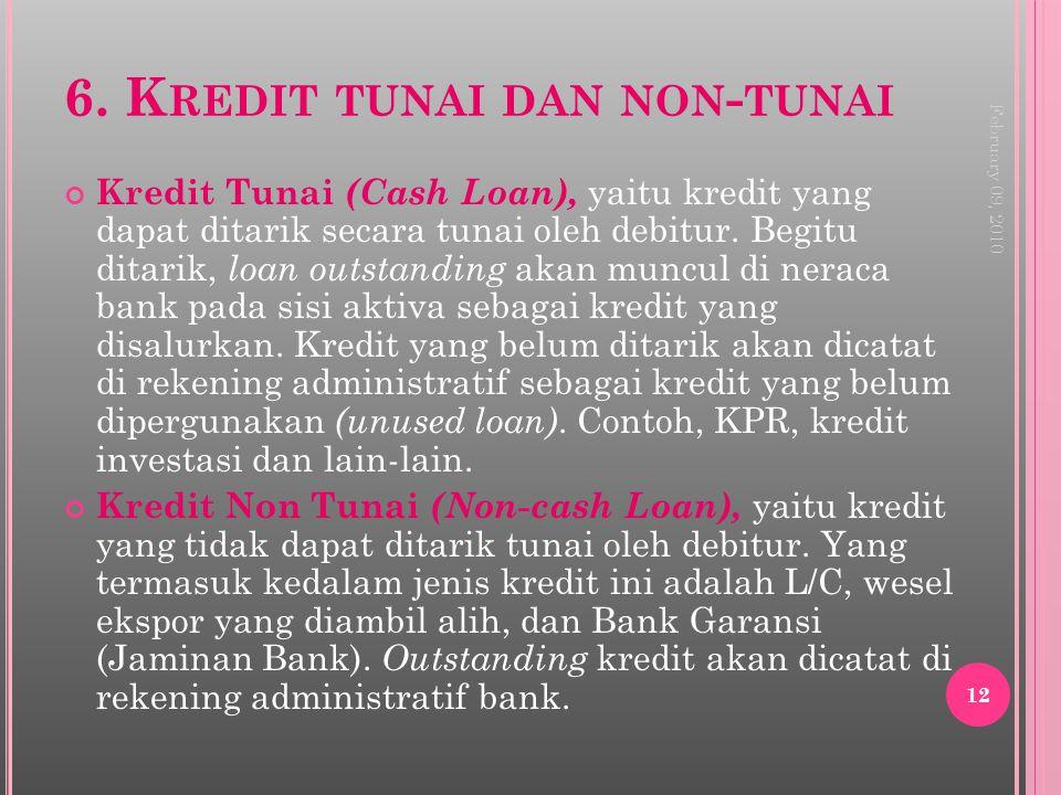 6. Kredit tunai dan non-tunai