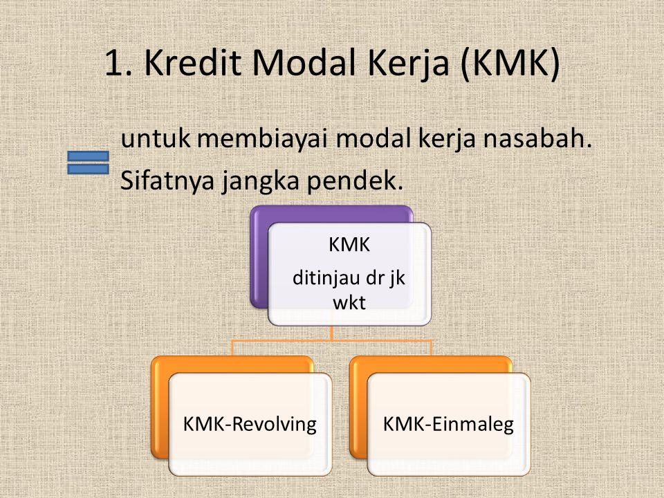 1. Kredit Modal Kerja (KMK)