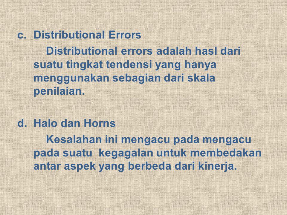Distributional Errors
