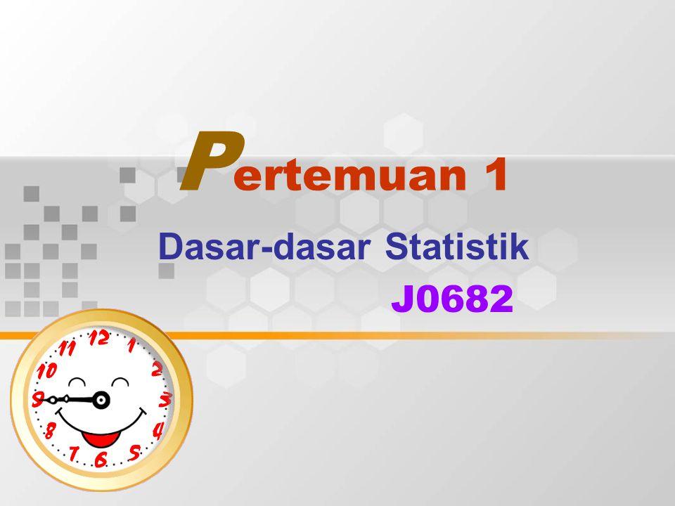 Dasar-dasar Statistik J0682