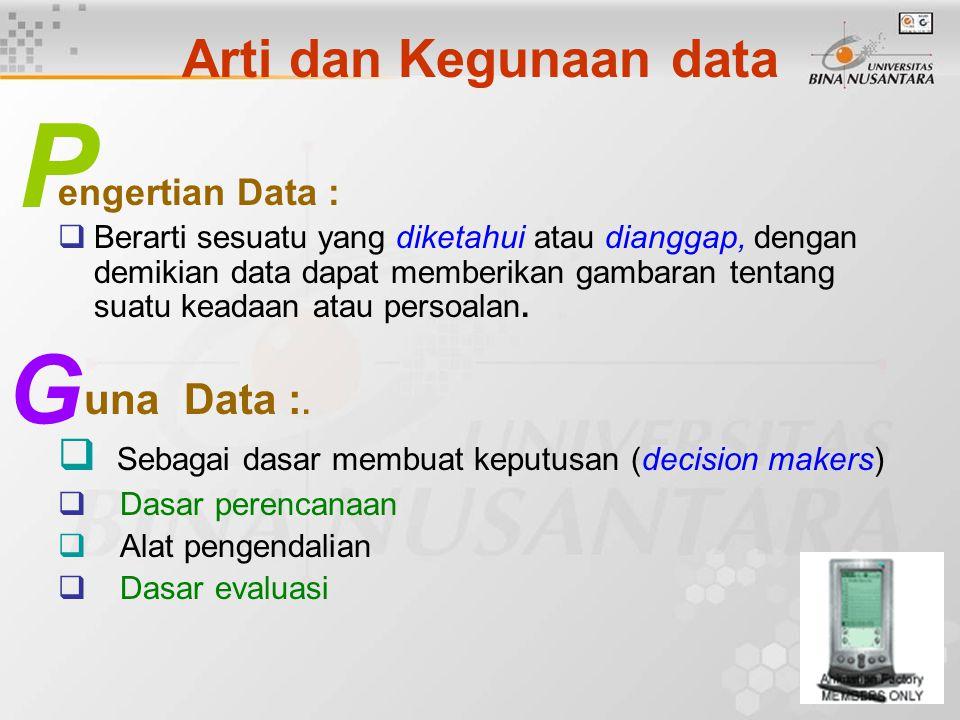 P G Arti dan Kegunaan data