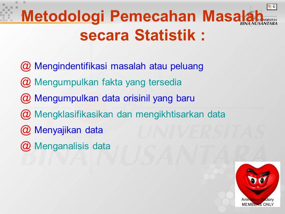 Metodologi Pemecahan Masalah secara Statistik :