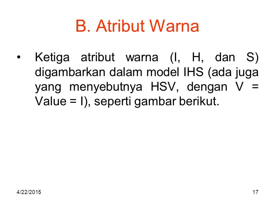 B. Atribut Warna