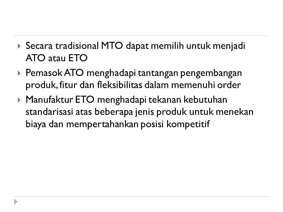 Secara tradisional MTO dapat memilih untuk menjadi ATO atau ETO