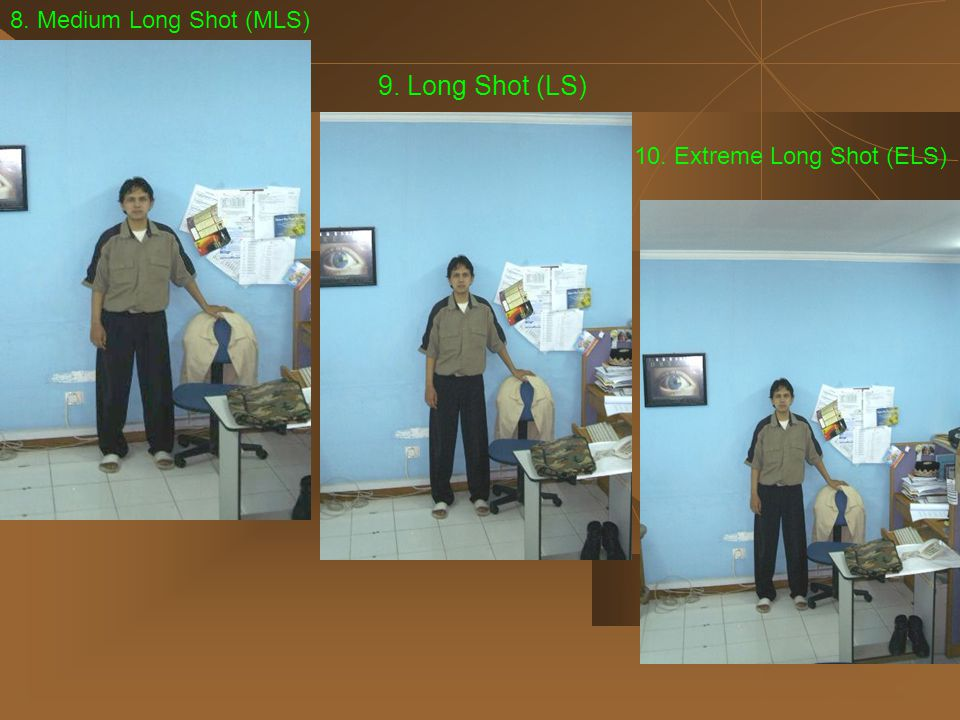 9. Long Shot (LS) 8. Medium Long Shot (MLS)