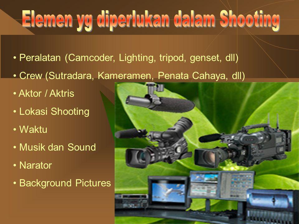 Elemen yg diperlukan dalam Shooting