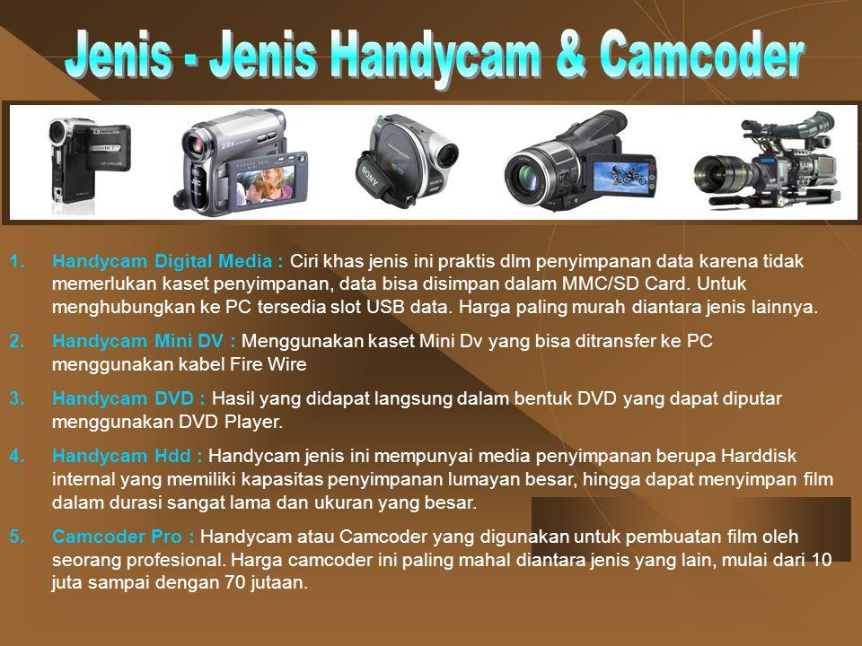 Jenis - Jenis Handycam & Camcoder