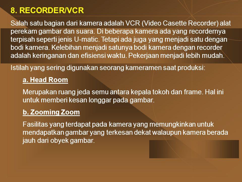 8. RECORDER/VCR