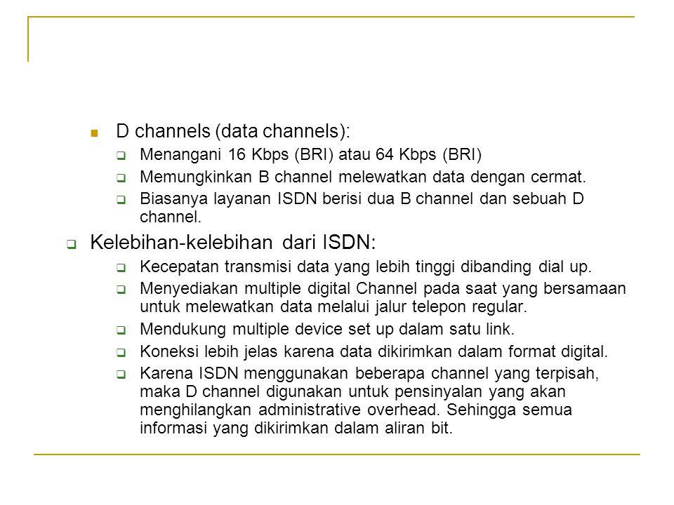 Kelebihan-kelebihan dari ISDN: