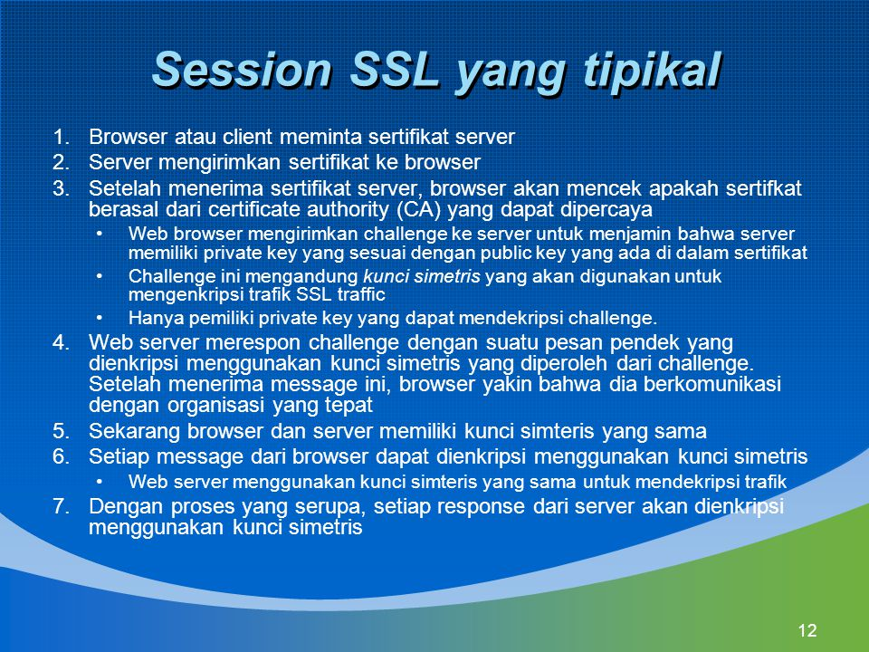 Session SSL yang tipikal