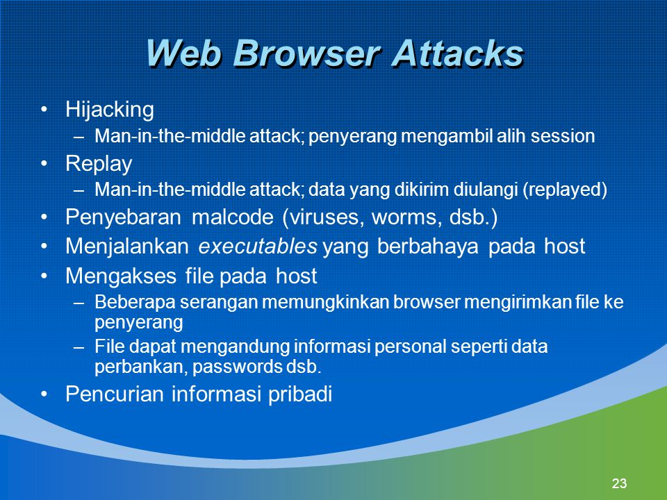 Web Browser Attacks Hijacking Replay