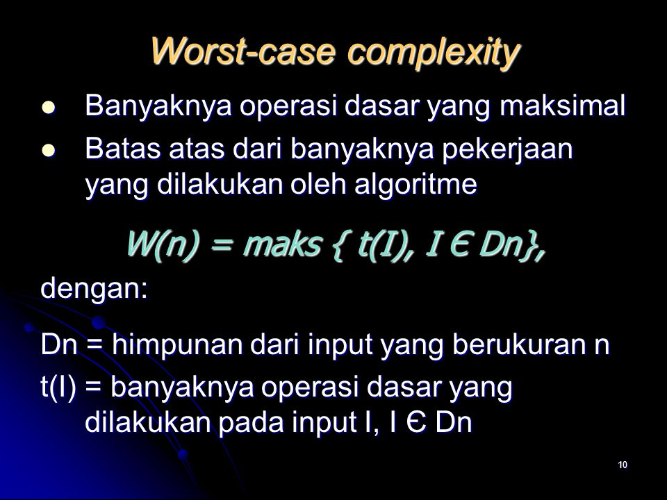 Worst-case complexity