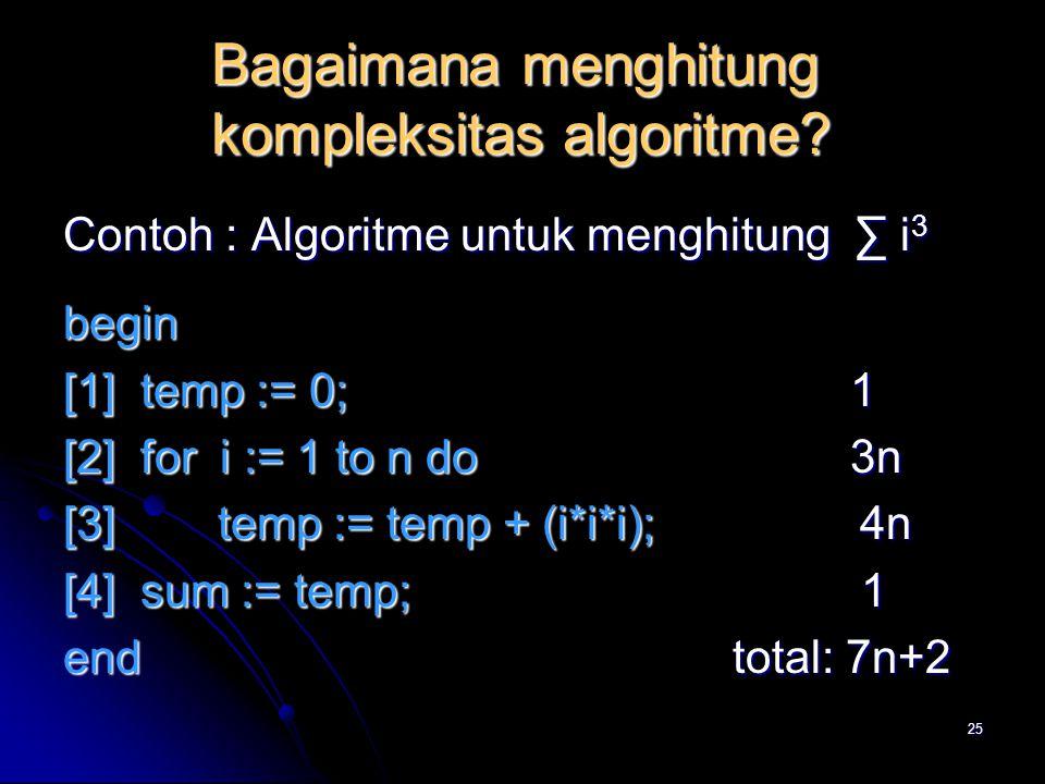 Bagaimana menghitung kompleksitas algoritme