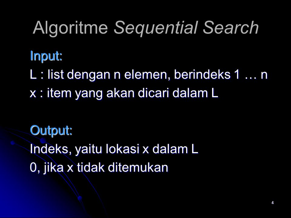 Algoritme Sequential Search