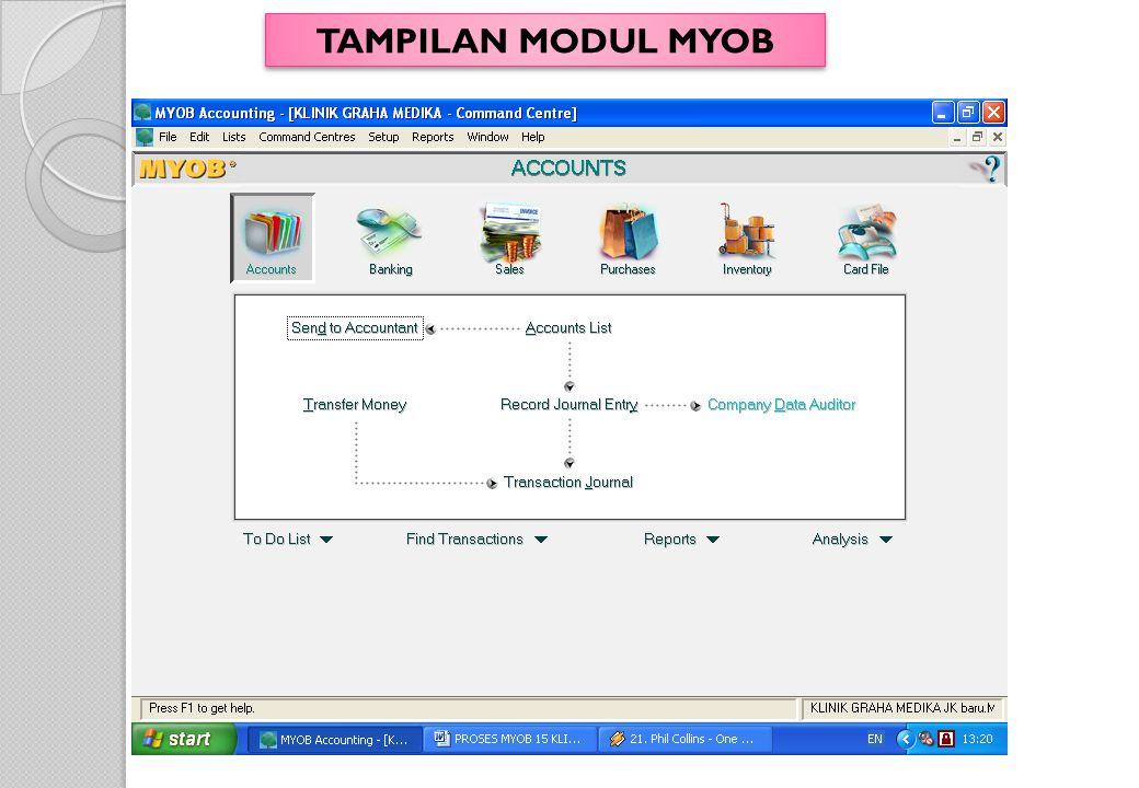 TAMPILAN MODUL MYOB