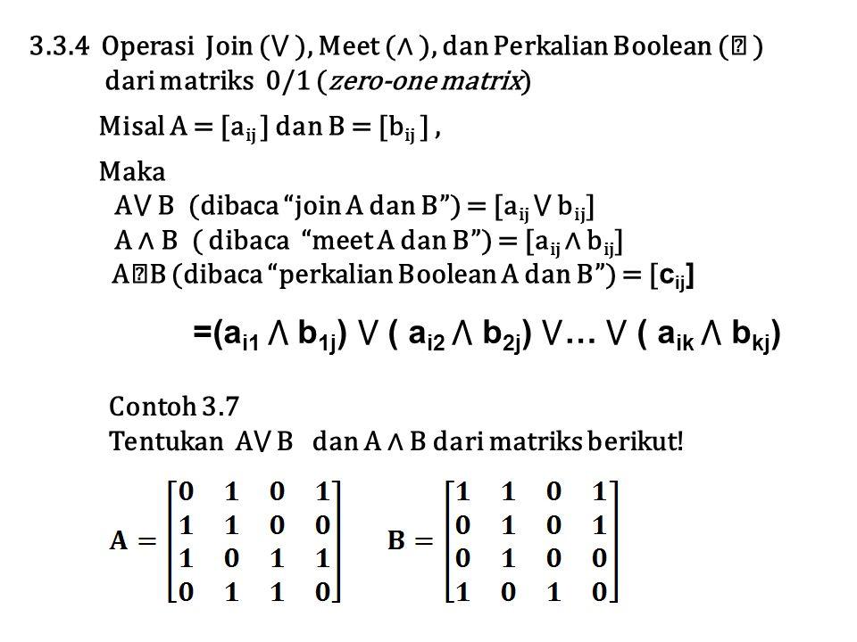 =(ai1 ⋀ b1j) ⋁ ( ai2 ⋀ b2j) ⋁… ⋁ ( aik ⋀ bkj)
