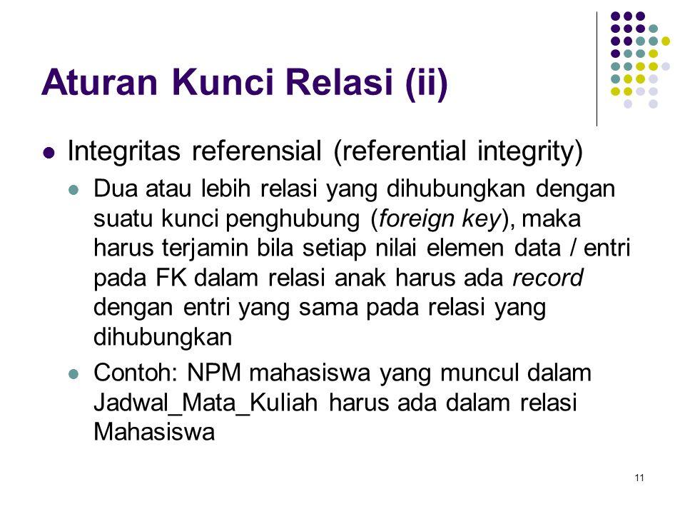 Aturan Kunci Relasi (ii)