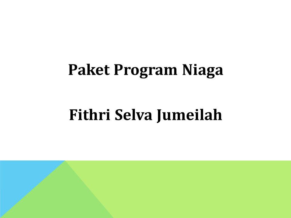 Paket Program Niaga Fithri Selva Jumeilah