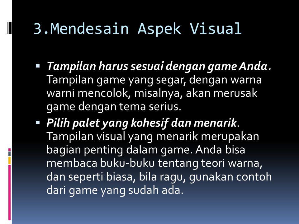 3.Mendesain Aspek Visual