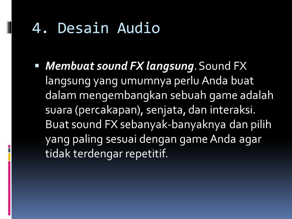 4. Desain Audio