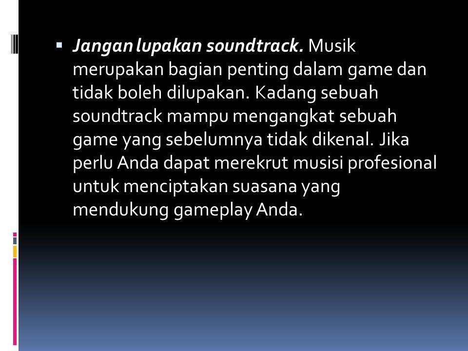 Jangan lupakan soundtrack