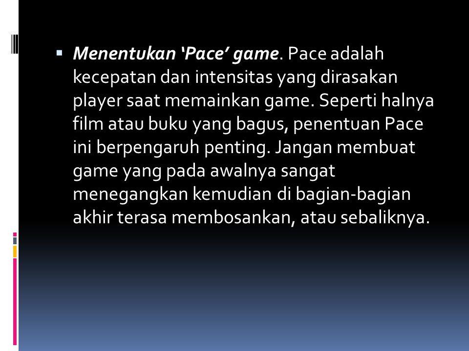 Menentukan 'Pace' game