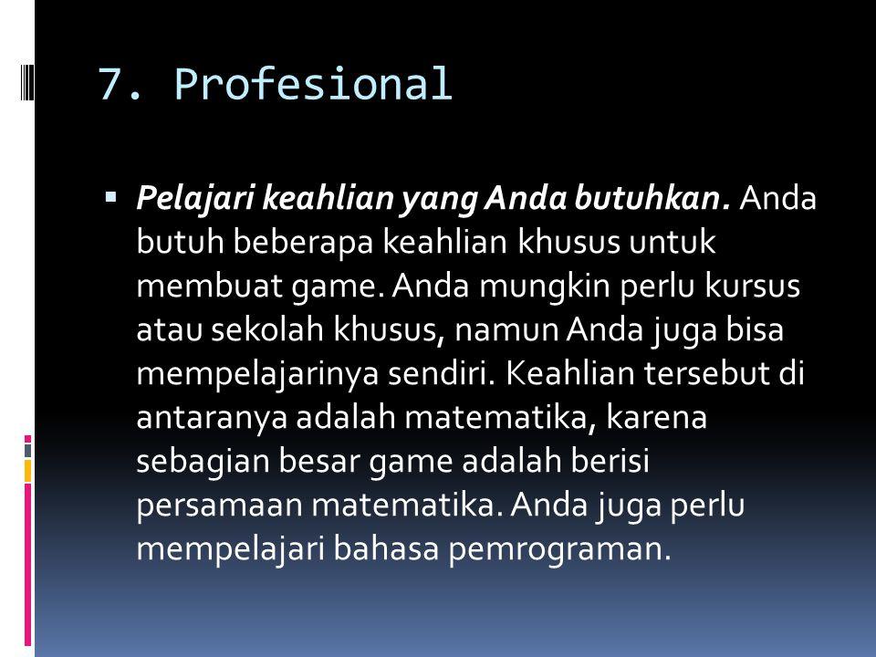 7. Profesional