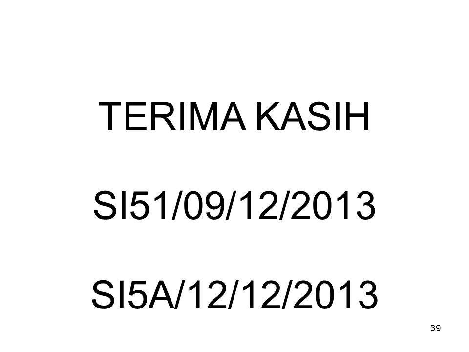 TERIMA KASIH SI51/09/12/2013 SI5A/12/12/2013
