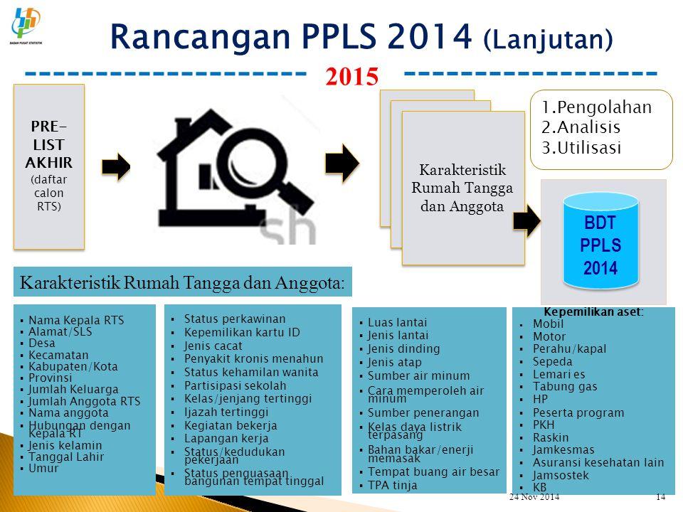 Rancangan PPLS 2014 (Lanjutan)