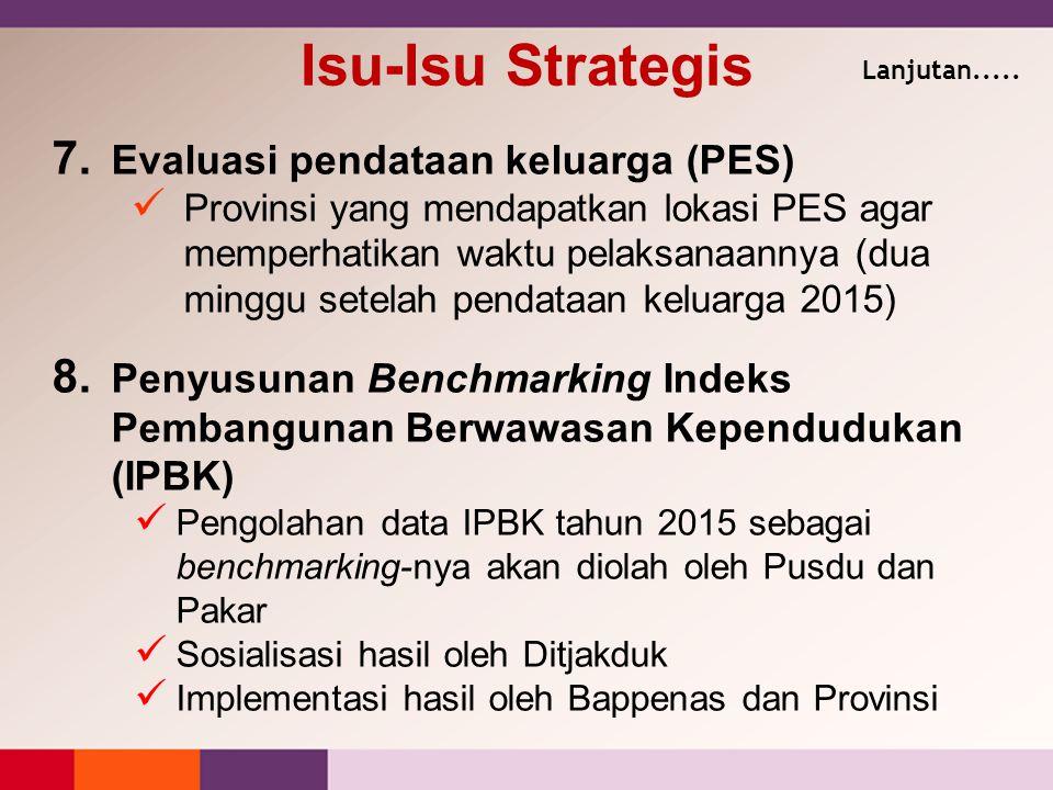 Isu-Isu Strategis Evaluasi pendataan keluarga (PES)