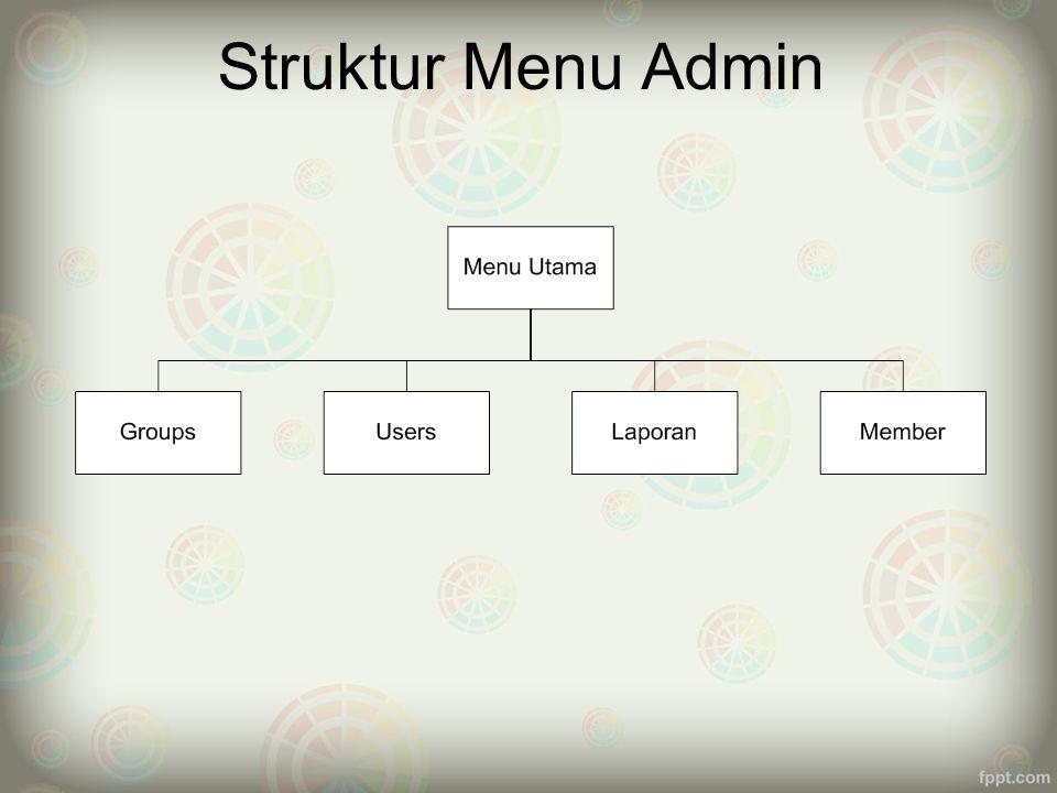 Struktur Menu Admin