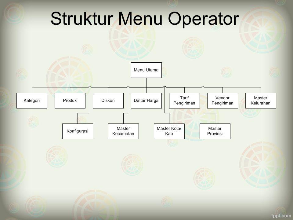 Struktur Menu Operator