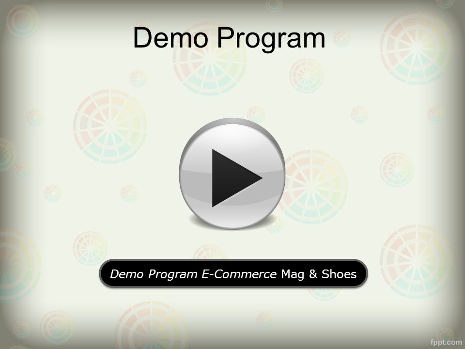 Demo Program E-Commerce Mag & Shoes