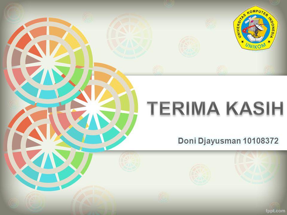 TERIMA KASIH Doni Djayusman 10108372