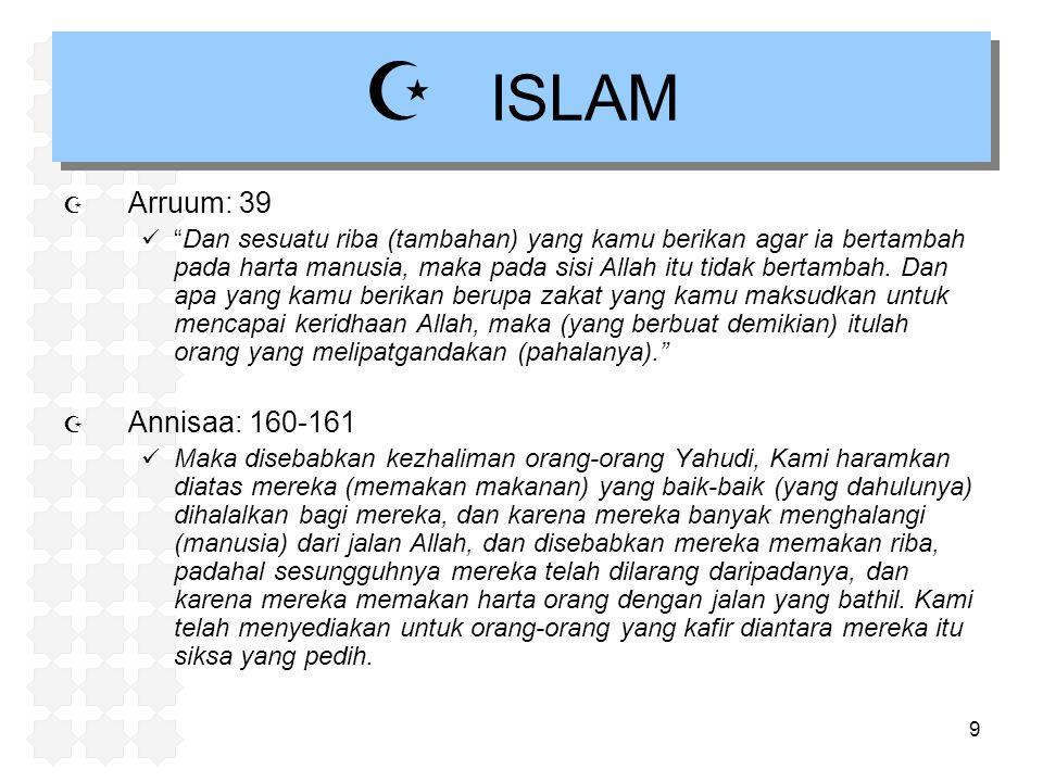 ISLAM Arruum: 39 Annisaa: 160-161