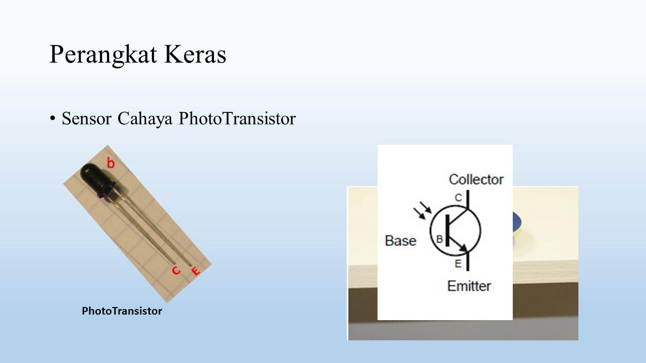 Perangkat Keras Sensor Cahaya PhotoTransistor b PhotoTransistor