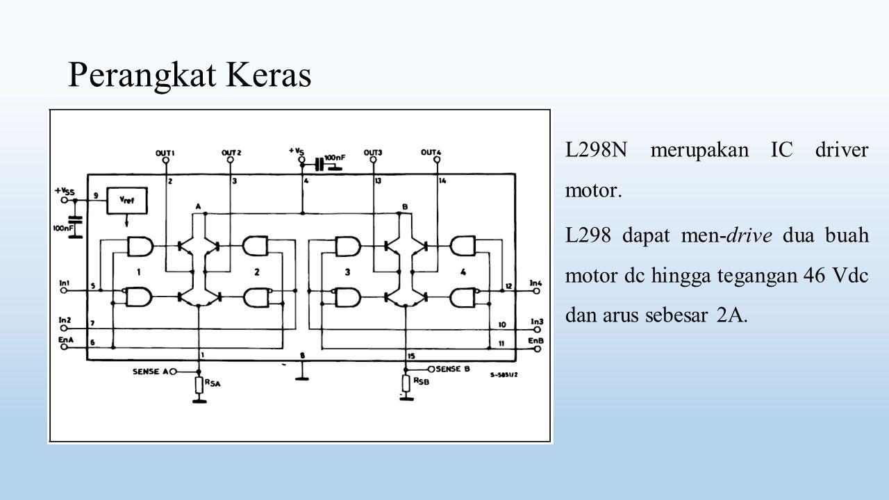 Perangkat Keras L298N merupakan IC driver motor.