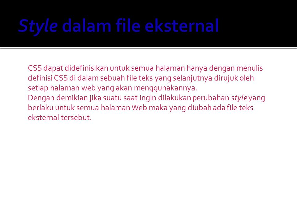 Style dalam file eksternal