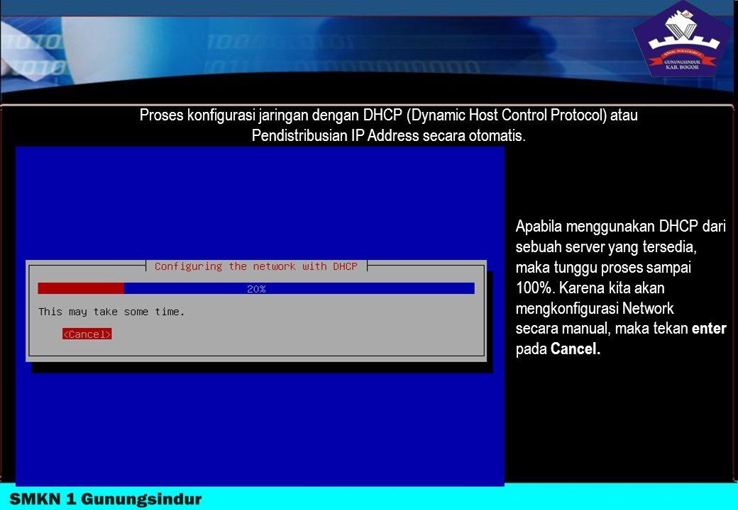 Pendistribusian IP Address secara otomatis.