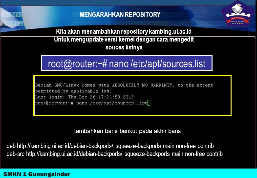 root@router:~# nano /etc/apt/sources.list