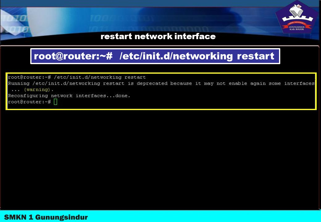 restart network interface