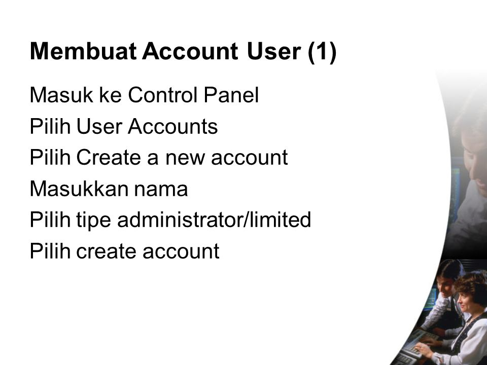 Membuat Account User (1)