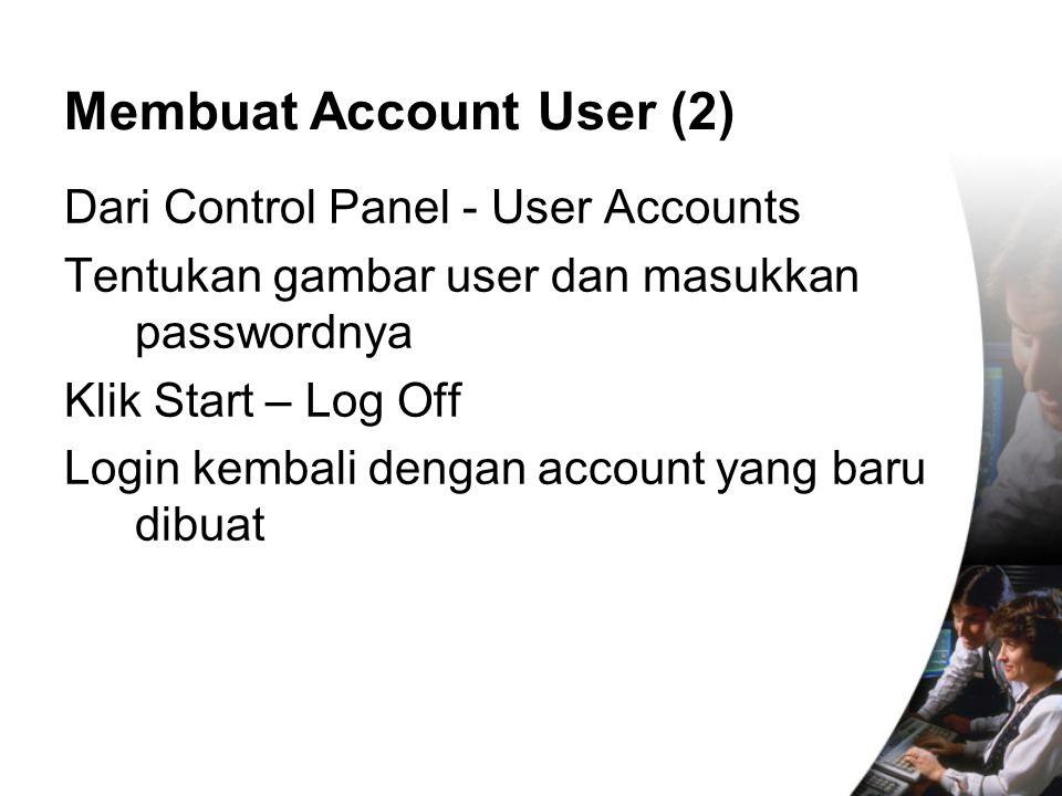 Membuat Account User (2)